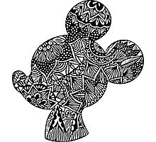 Mouse Zentangle Photographic Print
