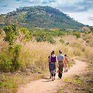 Family hike near Mandimba by Tim Cowley
