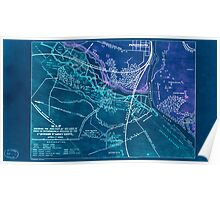 Civil War Maps 1032 Map shewing the position of the lines in front of Petersburg Va occupied by the 1st Division 9th Army Corps April 1st 1865 Inverted Poster