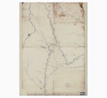Civil War Maps 2035 Map of part of Pocahontas Randolph and Webster counties West Virginia One Piece - Short Sleeve