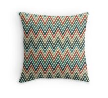 Chevron Seamless Pattern in Vintage Color Palette Throw Pillow