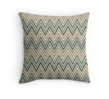 Chevron Seamless Pattern in Calm Color Palette Throw Pillow