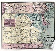 Civil War Maps 0016 A new military map of the seat of war Poster