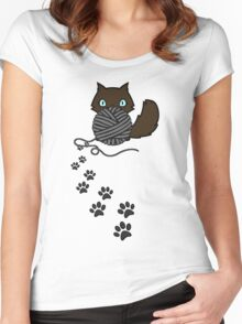 Playful kitty Women's Fitted Scoop T-Shirt