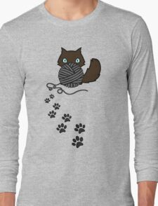 Playful kitty Long Sleeve T-Shirt