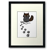 Playful kitty Framed Print