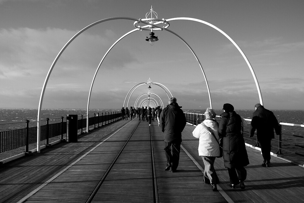 On Southport Pier, New Year's Day by Nicholas Coates
