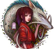 Haku the Water Dragon and Chi - Spirited Away by alakaprazolam