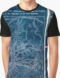 Civil War Maps 1908 War maps and diagrams 02 Inverted Graphic T-Shirt