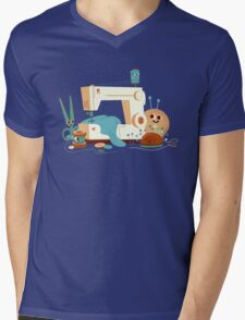 SEWING MACHINE Mens V-Neck T-Shirt