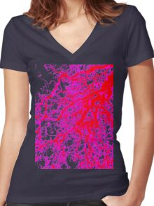 Art by nature Women's Fitted V-Neck T-Shirt