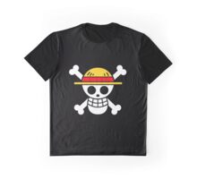One Piece Pirate Flag Monkey D. Luffy Roronoa Zoro Nami Usopp Sanji Tony Tony Chopper Nico Robin Franky Brook Graphic T-Shirt