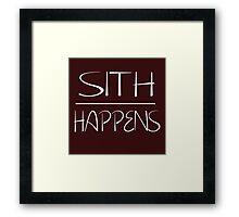 Sith happens  Framed Print