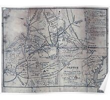 Civil War Maps 1651 Sketch of the country occupied by the Federal Confederate Armies on the 18th 21st July 1861 Poster