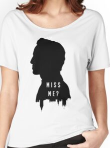 Sherlock Holmes Jim Moriarty Miss me Women's Relaxed Fit T-Shirt