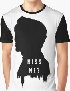 Sherlock Holmes Jim Moriarty Miss me Graphic T-Shirt