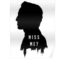 Sherlock Holmes Jim Moriarty Miss me Poster