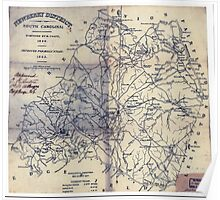 Civil War Maps 1192 Newberry District South Carolina Poster