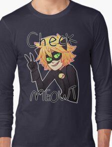 Check Meowt! Cat Noir Long Sleeve T-Shirt