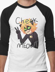 Check Meowt! Cat Noir Men's Baseball ¾ T-Shirt