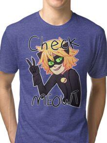 Check Meowt! Cat Noir Tri-blend T-Shirt