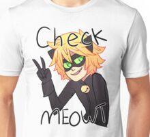 Check Meowt! Cat Noir Unisex T-Shirt