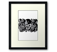 Zombies in black and white collage Framed Print