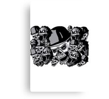 Zombies in black and white collage Canvas Print