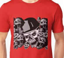 Zombies in black and white collage Unisex T-Shirt