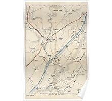 Civil War Maps 1942 Chattanooga region Poster