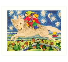 The Children Who Ride Wolves Across the Sky Art Print