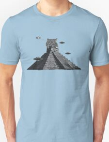 The awesome cat pyramid fighting the atrocious spaceships Unisex T-Shirt