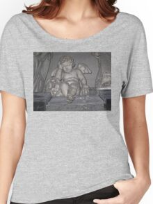 France. Amiens. Amiens Cathedral. Weeping Angel. Women's Relaxed Fit T-Shirt