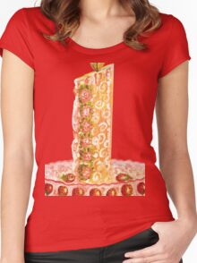 Strawberry cake for Christmas Women's Fitted Scoop T-Shirt