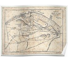 Civil War Maps 1660 Sketch of the seat of war in Alexandria Fairfax Cos by V P Corbett Poster