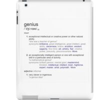 Who is a genius ? iPad Case/Skin