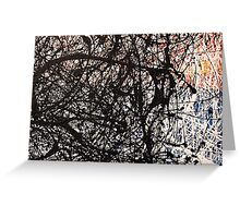 Abstract Jackson Pollock Painting Original Art Titled: Hullabaloo Greeting Card