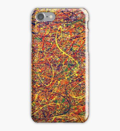 Abstract Jackson Pollock Painting Original Art Titled: Singularity iPhone Case/Skin