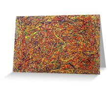 Abstract Jackson Pollock Painting Original Art Titled: Singularity Greeting Card