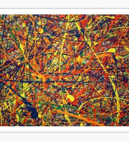 Abstract Jackson Pollock Painting Original Art Titled: Vivid Anomaly Sticker