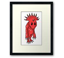ten horns cute demon Framed Print