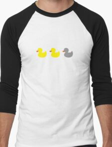 Duck, duck, gray duck! Men's Baseball ¾ T-Shirt