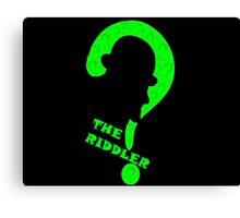 Riddler question mark alternative Canvas Print