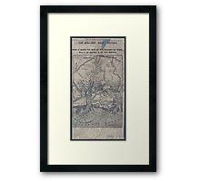 Civil War Maps 1908 War maps and diagrams 02 Framed Print