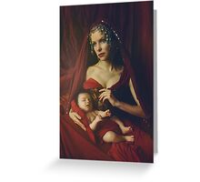 mary & baby girl Greeting Card
