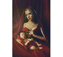 mary & baby girl Photographic Print