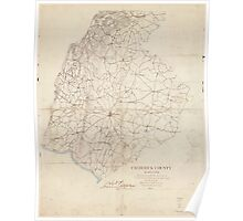 Civil War Maps 0404 Frederick County Maryland Poster