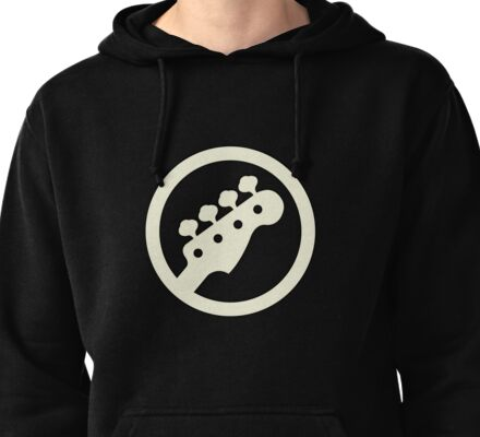 Cool Bass Guitar Ring Pullover Hoodie