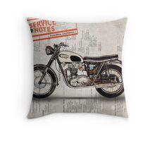 Triumph Bonneville t120 1966 Throw Pillow