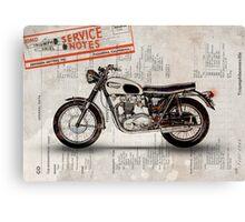 Triumph Bonneville t120 1966 Canvas Print